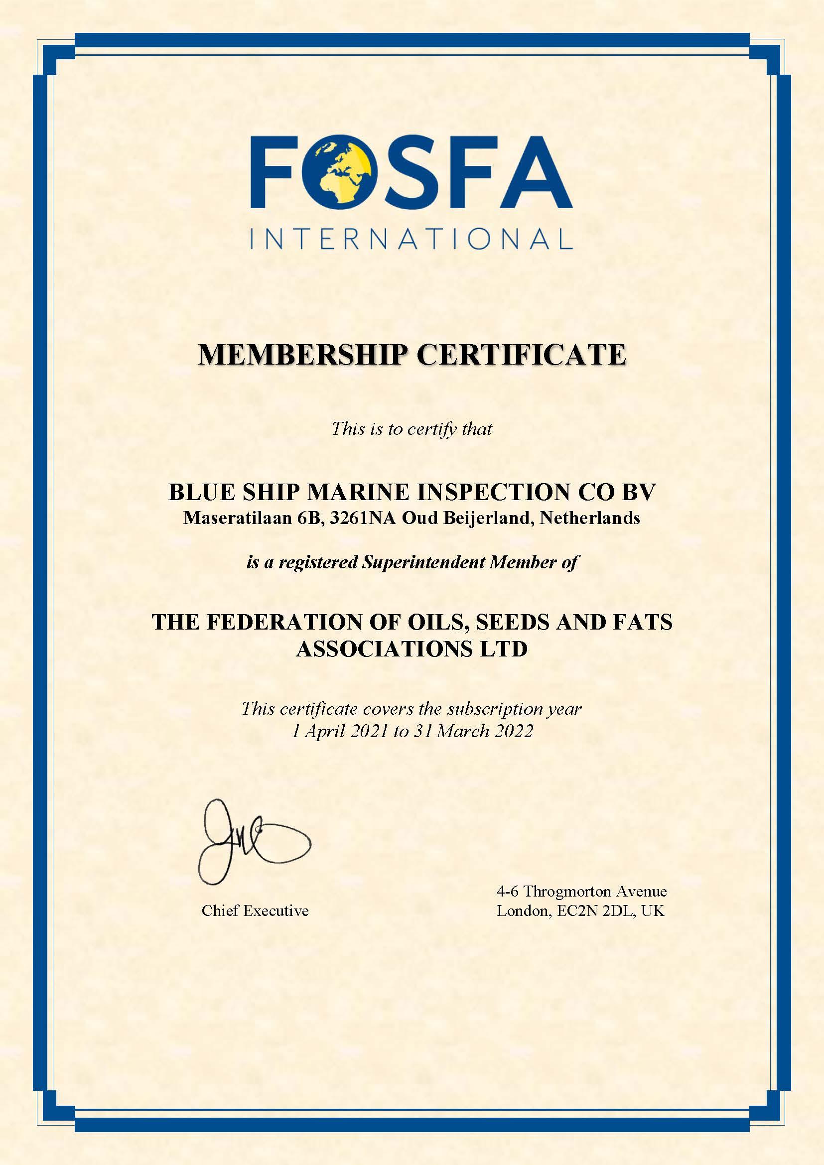 Membership Certificate 2021 - BLUNL00